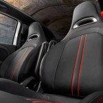 2016 Fiat Abarth Leather-Trim Interior Seats