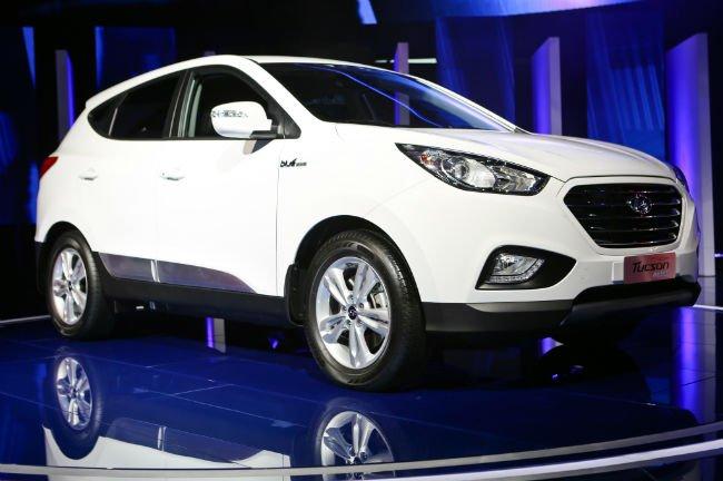 2016 Hyundai Tucson Fuel Cell White