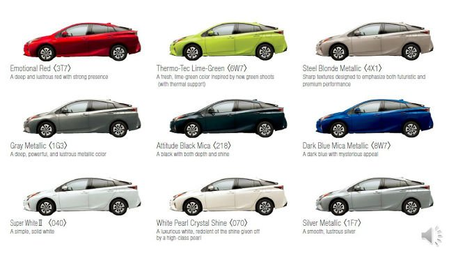 Prius Paint Colors