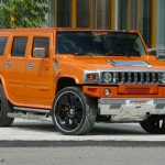 2017 Hummer H2 Orange