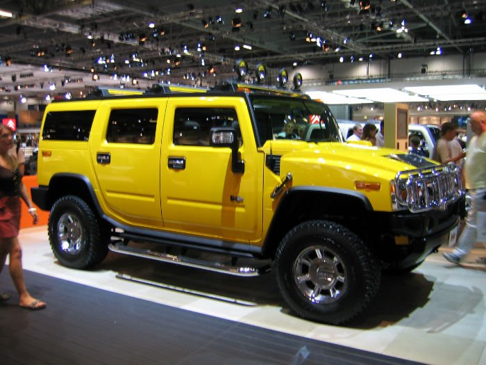 2017 Hummer H2 Yellow Color
