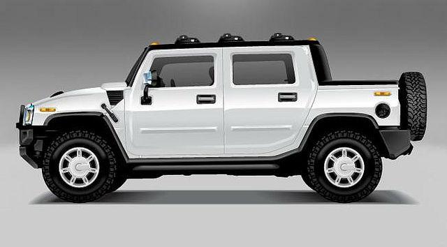 2017 Hummer Truck White
