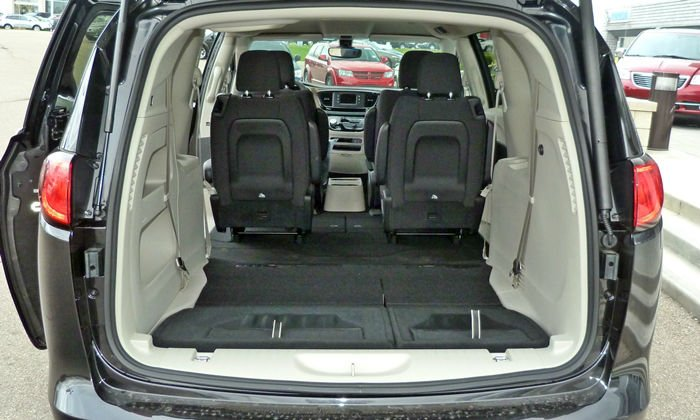 2017 Chrysler Pacifica Cargo Space