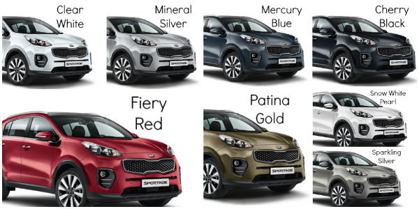 2018 Kia Sportage Colors